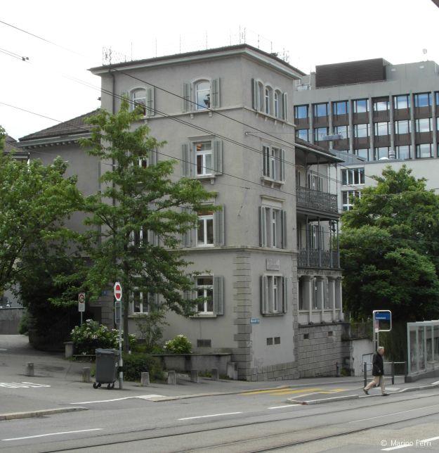 Das Haus an der Universitätsstrasse 38 (heute Haldenstrasse 12/14). Joyce wohnte im ersten Stock.
